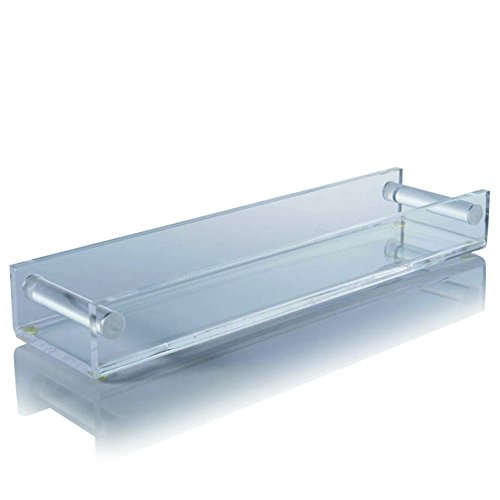 "Crystalize Acrylic Tray Catchall for Your Entry Table, Bedroom, Bath or Kitchen. Makeup Organizer. Appetizer Server. 17"" Wide X 2.25"" High X 4.5"" Deep"