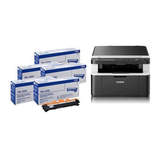 Brother DCP-1612W Stampante Multifunzione Laser Wi-Fi con 5 Toner TN1050 Inclusi