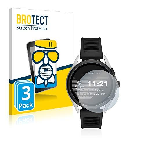 BROTECT Entspiegelungs-Panzerglasfolie kompatibel mit Emporio Armani Connected Smartwatch 3 (3 Stück) - Anti-Reflex Panzerglas Schutz-Folie Matt