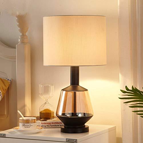 VIWIV Lámpara de escritorio Mp Silample, lámpara de cristal nórdica, personalizable, de lujo, para sala de estar, dormitorio, mesita de noche, lámpara de estudio, luz blanca, 52 cm x 28 cm