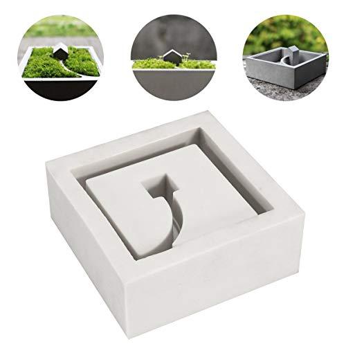 MASUNN Diy Siliconen Betonvorm Bloempot Planter Cement Vaas Zeep Vorm Tuin Decoraties