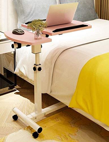 Table-Fibreboard plegable y móvil para ordenador portátil, cama simple con aprendizaje para usar la mesita de noche del hogar, color es opcional-5