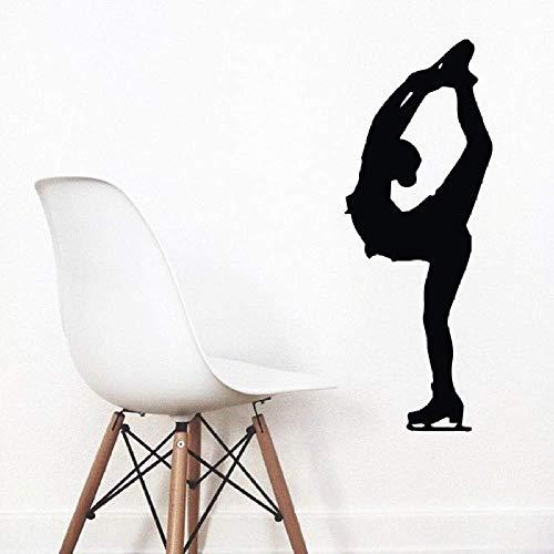 Skating Rollschuh Mädchen geschnitzt Home Art Dekoration Wandaufkleber 1 38x101cm