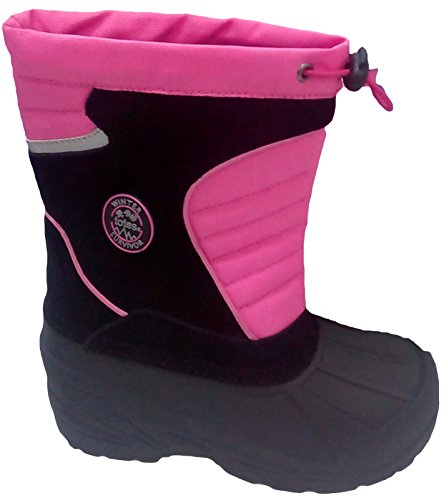 Totes Girl's Classic Snow Boot,BLACK/PINK,4 Big Kid