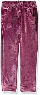 Giggles Elastic Drawstring Side-Pocket Striped Sweatpants for Girls