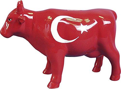 Spardose - Kuh - handbemalt - Sparbüchse Frankreich - Schweden - Türkei - Spanien - Tirol - Mecklenburg - Niedersachsen - Mallorca - Bayern (Türkei)