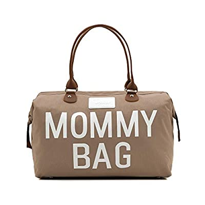 CHQEL Baby Diaper Bag, Mommy Bags for Hospital & Functional Large Baby Diaper Travel Bag for Baby Care (Beige)