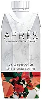 Après Plant-Based Vegan Protein Shake, Sea Salt Chocolate (11 FL OZ, 12 Count) Non-GMO, Dairy-Free, Gluten-Free, Soy-Free, Kosher (Sea Salt Chocolate, 12 Bottles)