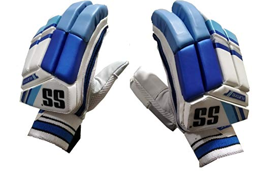 SS Platino Batting Gloves Adult Right Hand (Blue/White)