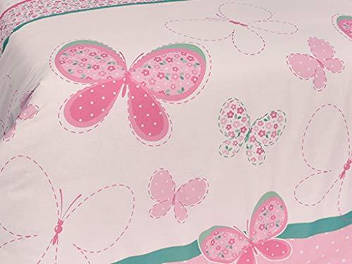 Tiendas Mi Casa - Funda nórdica Infantil Reversible Mariposas Cama 135 cm (220x220 cm) 100% algodón.
