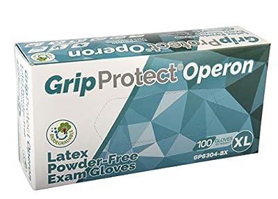 Disposable Medical and Dental, Powder Free Latex Examination Gloves (100, Xlarge)