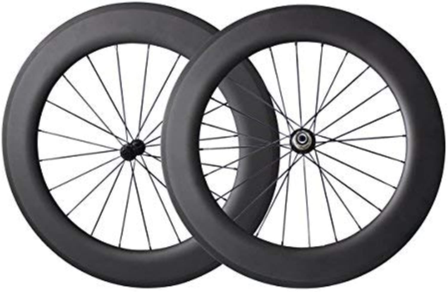 IMUST 700C Aero Carbon Wheelset 86mm Deep 27mm Wide Clincher Tubeless Ready Racing Bike Novatec Straight Pull Hub Triathlon wheels(Best for  Triathlon)