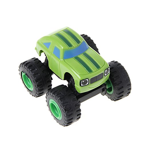 Dayloveme 6Pcs Racer Cars Toy Blaze Vehicles Trucks Gifts for Kids Diecast Toys Machines