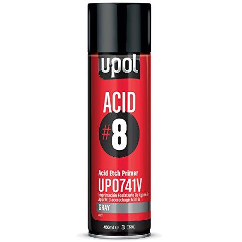 U-POL 0741V Acid#8 Etch Primer Gray Aerosol, 13 Fl Oz.