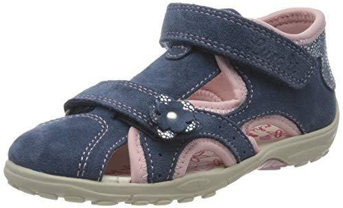 Lurchi Mädchen MOMO Sandalen, Blau (Jeans Rose 42), 26 EU