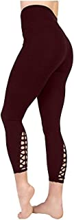 Active Life Womens High Waisted Macrame Tight Leggings,XX-Large