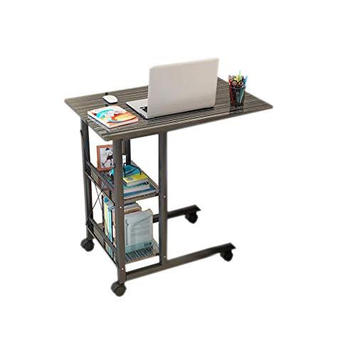 ABD Mesa de sobrecama con ruedas Altura ajustable Escritorio de ordenador portátil Rolling TableNotebookTabble portátil portátil sofá cama bandeja 40 x 80 x (83-93) Cm
