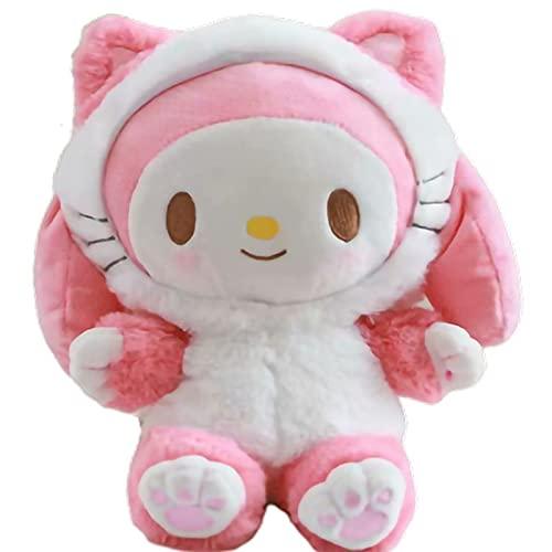 20 cm My Melody Cinnamorol Kitty Muñecas de peluche de relleno suave lindo Anime Kawali Perros Gatos Decorar bolsas Adulto Niños Juguetes Regalo de las niñas