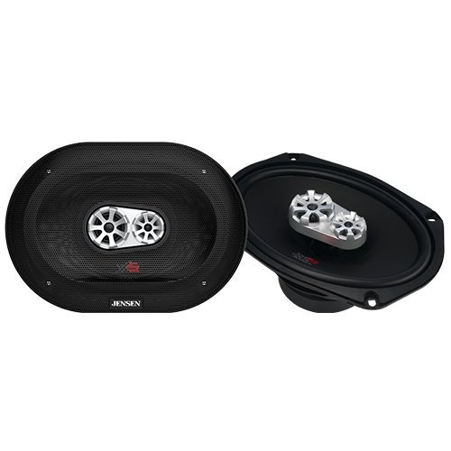 Jensen XS6090 3-Way 6 x 9 inch High Performance Car Speakers with 400 Watt Peak Power and 1 inch Voice Coils with 25mm Silk Dome Tweeters