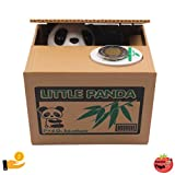 Saving Box Lovely Panda Stealing Coin, Automatic Piggy Bank, Educational for Kids to