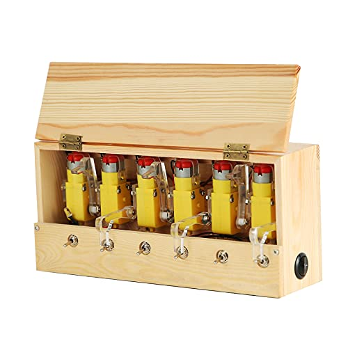 Perfeclan Caja de Madera inservible Totalmente ensamblada Caja inservible déjame máquina Recargable para niños Adultos