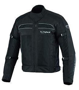 JET Chaqueta Moto Hombre Verano con Armadura Malla Air Flow COLT (Negro, L (EU 50-52))