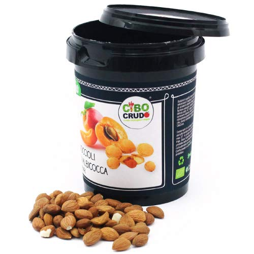 CiboCrudo Noccioli di Albicocca Amari Bio Crudi, Raw Organic – 250gr - Semi Biologici, Albicocche...
