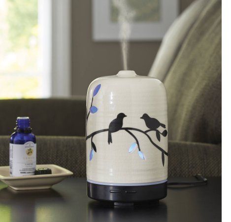 Better Homes and Gardens Essential Ceramic Oil Diffuser, Birds and Branches