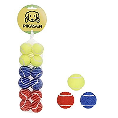 """PIKASEN 1.5"""" Small Tennis Balls for Dogs - Cat Toy 3 Colours and Pack of 12 Mini Tennis Balls for Small Dogs from PIKASEN"""