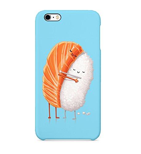Sushi Friendship - Carcasa de plástico rígido 3D para iPhone 6 7 8 X Plus Samsung Galaxy Huawei