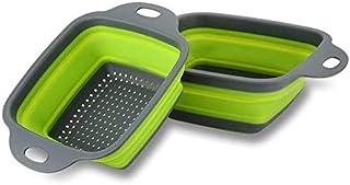 scolapasta pieghevole da cucina con manici estensibili Cestello di scarico pieghevole cestino di scarico telescopico