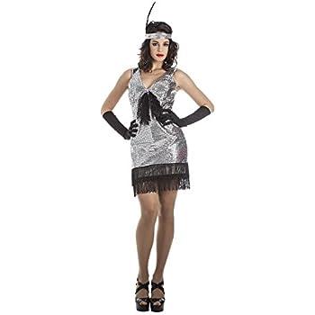Disfraz de Charleston Plata para mujer: Amazon.es: Juguetes y juegos