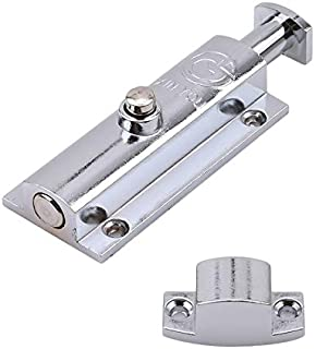 Flat Bolt - Stainless Steel Door Latch Push Button Lock Window Bolt Durable Home Decoration Guard Against Theft - Proof Bolts Barrel 100mm Beds Black Metric Furniture Nuts Baby