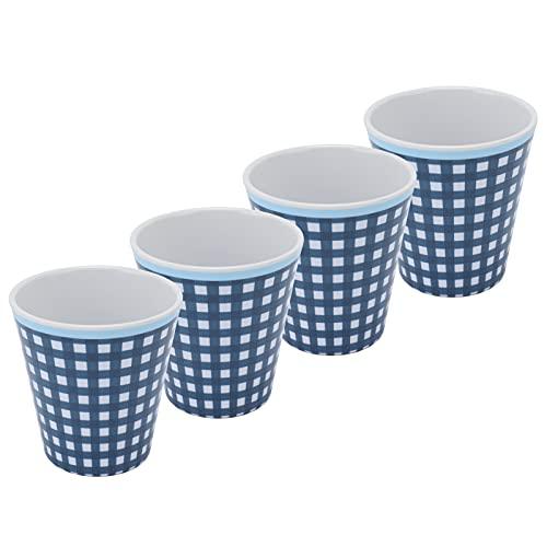 PBOHUZ Taza de melamina -4 Unids/Set Originalidad Taza de melamina Taza de Agua de Porcelana de imitación para Restaurante Escuela