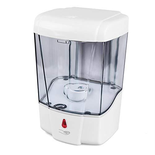 Hanstore Dispensador automático de jabón de 700 ml de Capacidad sin Contacto Sensor dispensador de detergente Montaje en la Pared para baño y Cocina