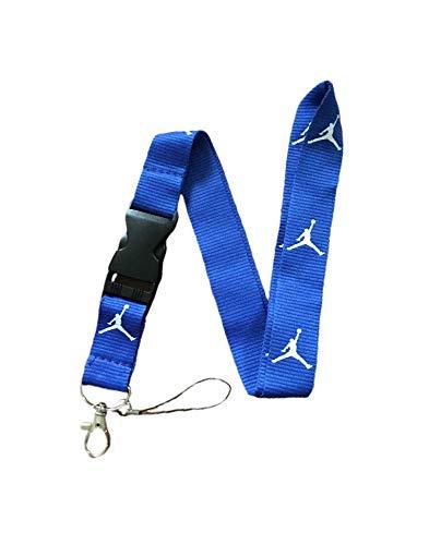 Jordan Lanyard Detachable Keychain iPod Camera Strap Badge ID Running Cell Holder (BLUE)