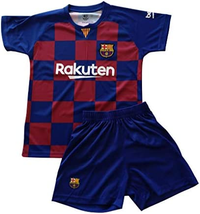 Camiseta y pantalón 1ª equipación FC. Barcelona 2019/2020 Niño
