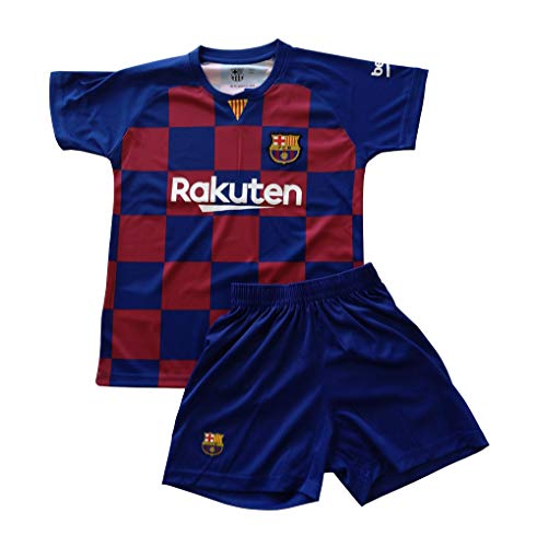 Champion's City Kit Camiseta y Pantalón Infantil Primera Equipación Dorsal Liso - FC Barcelona - Réplica Autorizada