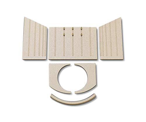 Feuerraumauskleidung für Wiking Nordic 7 Kaminöfen - Vermiculite - 6-teilig