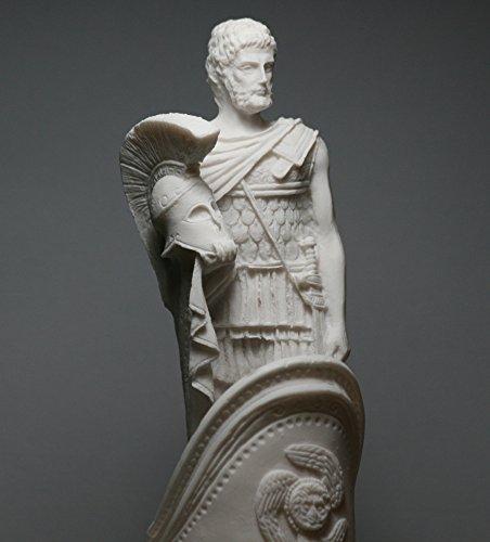 Figura de escultura de mármol fundido de Ares Mars God of War Chariot griego, 9,84 ´ ´