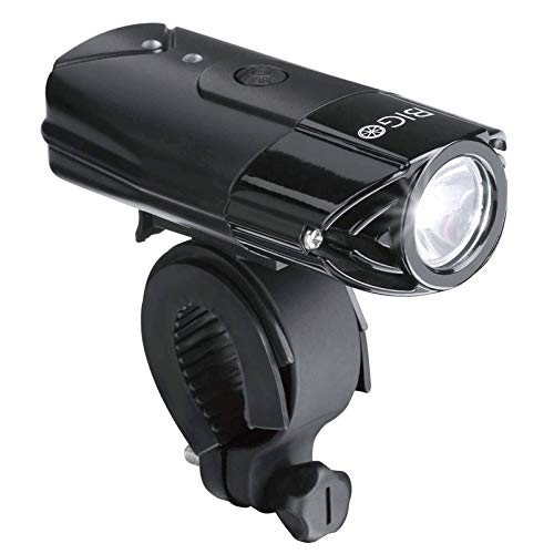 BIGO Eclairage Avant LED Ultra Puissant Lampe Vélo USB Rechargeable Lumière Avant VTT et VTC, Batterie au Lithium 2000 mAh (avec indicateur de Batterie Faible, câble USB Inclus)