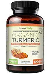 HIGHEST STRENGTH 100% Certified Organic Turmeric Capsules – The easiest Way to Consume Your Daily Dose of Organic Turmeric in a Nature Based Formula to Assist its Absorption ENHANCED COMBINATION FORMULA with Pure Organic Turmeric (650mg) Organic Ging...