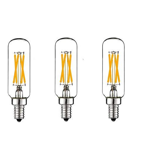 ILAMIQI E14 LED Glühlampe T8 / T25 Sockel, 4W Edison LED 2700k warmweiß Glühlampe mit 40 Watt Äquivalent Vintage Restaurierungs Hardware Stil Glühlampe Nicht dimmbar 3er Pack