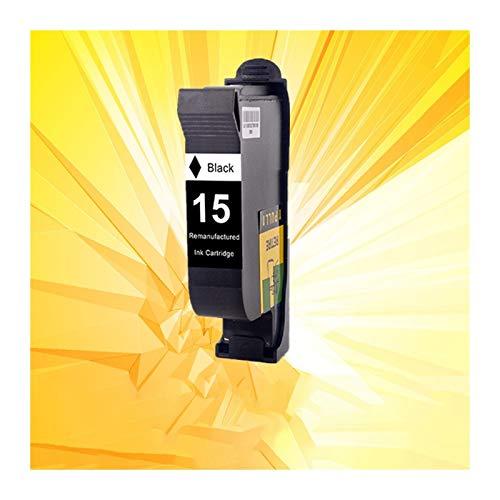 YJTT Cartuchos de Tinta aplicable for HP15 HP17 for 15 17 XL Cartuchos de Tinta 15XL 17XL C6615A C6625A Deskjet 816C 825c 840c 841c 843c 845c 842C Impresora (Color : 1 Pack Black)