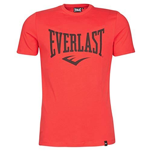 Everlast Sports Camiseta de Manga Corta, Hombre, Rojo, Medium