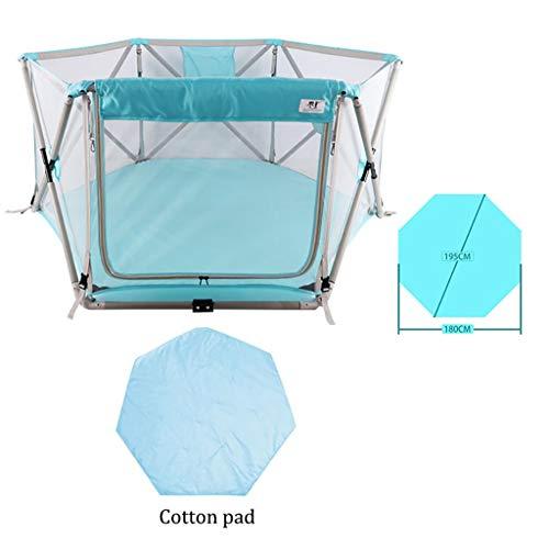 Fence Play Blue enfants, respirante imperméable Oxford Net, adapté for la pratique Ramper, Tout-petit bébé Paradise, facile à installer (Color : Standard)