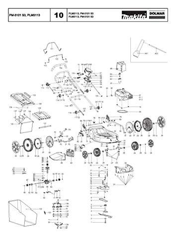 Dolmar 671006004-1051 schroef met platte kop M8x52, origineel onderdeel PM-5101 S3