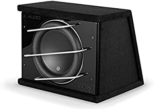 JL Audio CLS113RG-W7AE One 13W7-D1.5 Sub loaded in a sealed enclosure with cross-bar grill