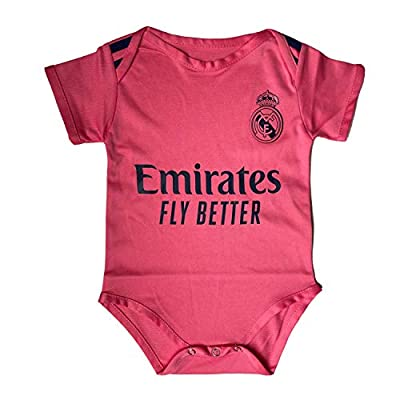 ODOSAN Football Club Baby Bodysuit Comfort Jumpsuit for 0-18 Months Infant and Toddler 2020/21 New Season (Real Madrid 3, 0-9 Months Baby)