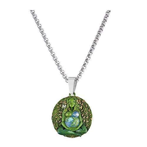Madre Tierra Gaia Colgante Collar Joyas con Colgante de La Diosa Gaia de La Madre Tierra para El Regalo Del Día de Las Madres